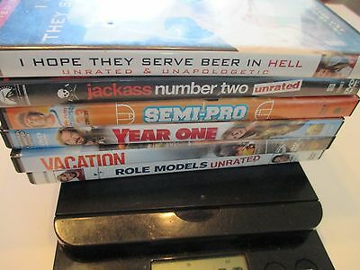 Lot of 6 Comedy DVD Movies - Semi-Pro - Jackass - Year One - Role Models-