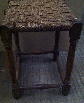 Antique, Vintage, 1930's rush woven stool - project?