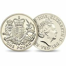 £1 Coin - 2015 - The Royal Arms With Lion & Unicorn - Shiny & Collectable