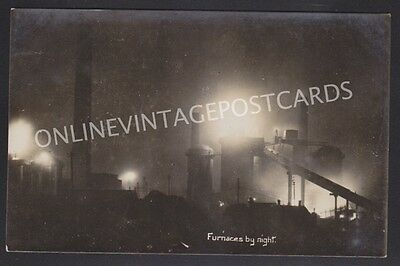 Staffordshire Bilston Steel Works At Night Super Real Photo