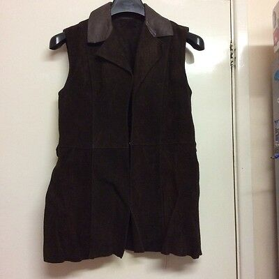 vintage 1960s suede chocolate brown jerkin mod dolly boho