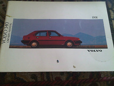 Volvo 340 1991 Model Year Drivers Owners Handbook Instruction Manual