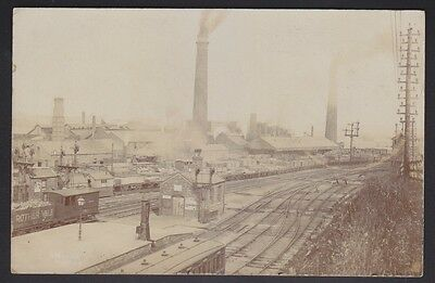 Yorkshire Industry Penistone Iron Works And Railway Real Photo
