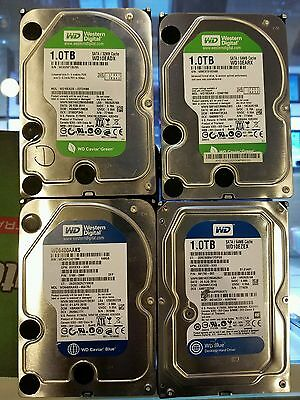 "Lot of 4 1TB HDD Desktop 3.5"" Hard Drives mixed brands for parts/ as is"