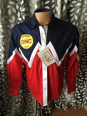 Democratic National Convention 2008 Rockmount Ranch Shirt Limited Ed Sz M