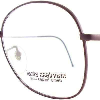 Vintage Burgundy Eye Glasses Eyeglasses Sunglasses Frame Eyewear