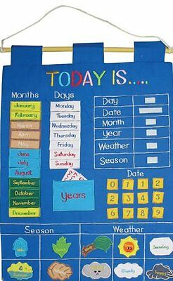 Children's 'Today Is' Fabric Wall Hanging Chart