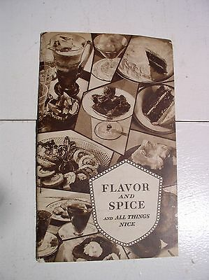 Flavor and Spice Cook Booklet 1929