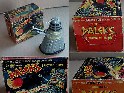 RARE Doctor Who LOUIS MARX small 4 inch FRICTION DALEK with BOX Dr.Who L@@K