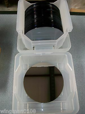 "Silicon Polished Wafers  8"" Dia-  Ma750*4 / Em436 (P) 01 / 84B61787 - Qty. 50"