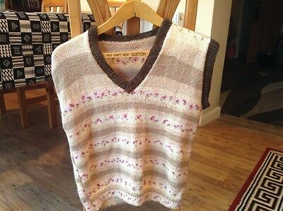 1940s style hand knitted jumper
