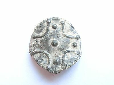 Ancient Artefact ~ Late Roman / Early Byzantine Bronze Belt Fitting with Cross