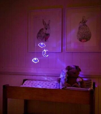 Moon And Clouds Night Light/Baby Mobile