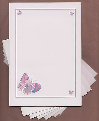 Butterfly  Letter Writing Paper Envelopes Stationery / Writing Set