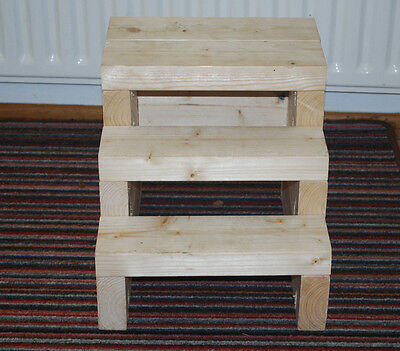 Handmade sturdy wooden step or stool for kids (and adults!)