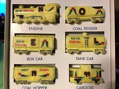 Boyd's Special Christmas Train Set Year 1999 Hand Painted 4/250