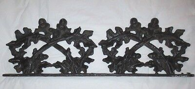 "Antique Cast Iron Acorns & Leaves Architectural Salvage Topper (23.25"")"