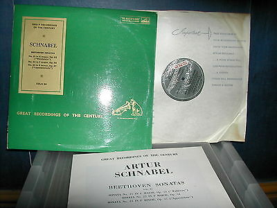 COLH 59 Beethoven sonatas 21,22,23 Schnabel LP factory sample