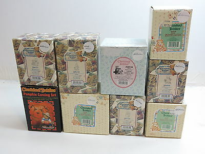 Lot Of 9 Enesco Cherished Teddies Figurines All Boxed / All Halloween Related
