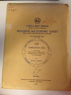 Vintage Map-Geological/economic Survey Charleston,wv Area - 1967