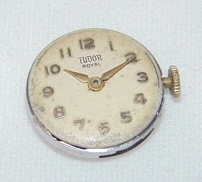 Vintage Rolex TUDOR Cal.2411 watch movement - working - with dial and hands