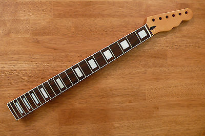 Guitar Neck Rosewood Mother Of Pearl Block Inlay White Binding For Telecaster