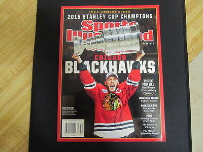Jonathan Toews Signed Commemorative Sports Illustrated Magazine ! '15 Cup Champs
