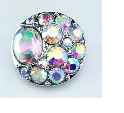3D Rhinestone Snaps Chunk Charm Button Fit For Noosa Bracelets P JoMacDesigns