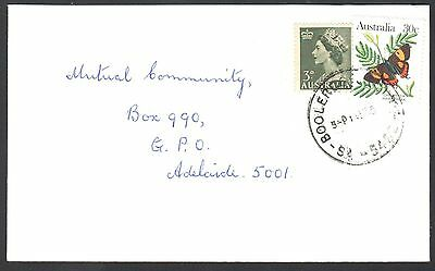 """Australia ca. 1985 commercial cover with 30c rate """"uprated"""" with 1953 3d QEII!"""