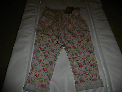 NEW NEXT Flowered Trousers 12 - 18 Months
