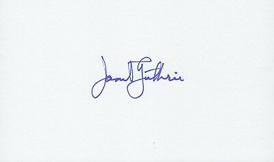 JANET GUTHRIE Autograph Daytona Indy 500 1st Woman Driver Signed 3x5 Index Card