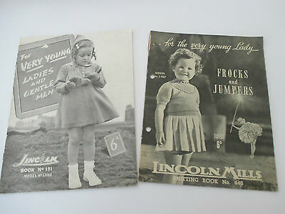 2 Vintage Lincoln Pattern Books 151 & 446 For The Very Young Ladies & Gentlemen