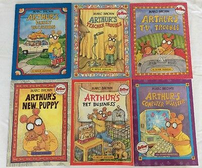 An Arthur Adventure Book  Lot Of 6  (PB)- Good