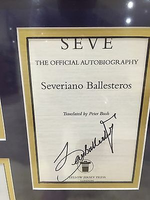 Seve Ballesteros - Golf Legend - Original Signed Photo Montage - With Loa