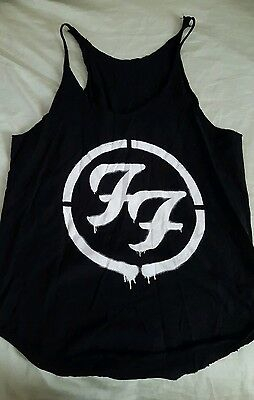 FOO FIGHTERS TANK TOP Black Cut Up Shirt Tee T-shirt Dave Grohl