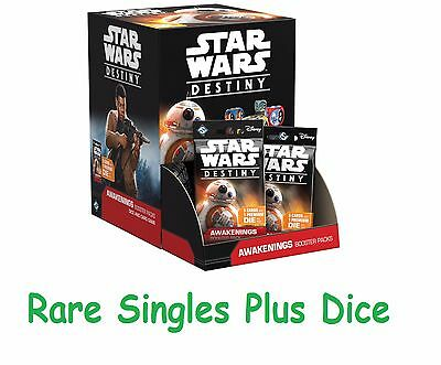 Star Wars Destiny - Awakenings - Rare Singles with Dice