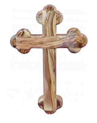 Olive Wood Orthodox Wall Cross ( 8-1/2 inch) from the Holy Land (Jerusalem) -NEW