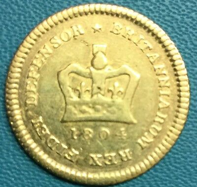 1804 George III 22ct Gold 1/3 Guinea Rare Coin