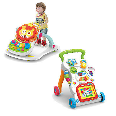 Baby Walker Music and Lights Fun Push Along Walker