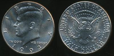United States, 1993-P Half Dollar, Kennedy - Uncirculated