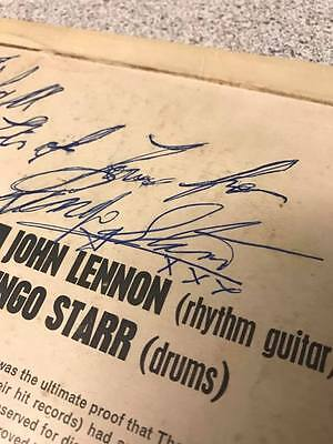 The Beatles Please Please Me Signed By Ringo Starr Lp