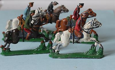 5 RARE VINTAGE 1920's BRITISH LEAD TOY SOLDIER ON HORSE