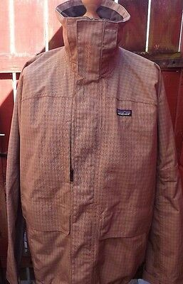 Mens Patagonia Checked Snowboarding Jacket H2No Size XL Lightweight