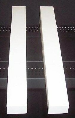 """Store  Fixtrures 2 WHITE RISERS 18"""" Long x 3"""" Tall"""