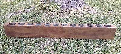 Large 12 Hole Sugar Mold Old Mexican / Primitive Like Candle Holder Herbs Garden