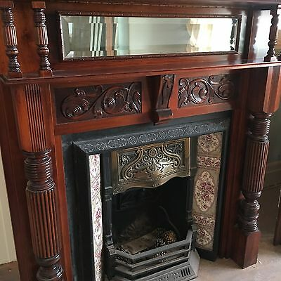 Antique Fireplace and Insert