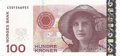 NORWAY 100 KRONER 2014 P-49e UNC [NO049e] NEW !!! THE ONLY ONE AT EBAY