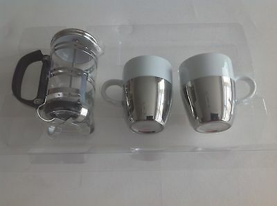Cafatiere & 2 Coffee Cups Duo Set Brand New Unused.