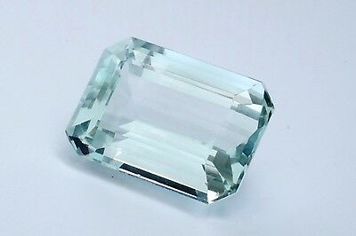 21.88CT Emerald Cut Aquamarine Flawless For Ring Necklace Pendant