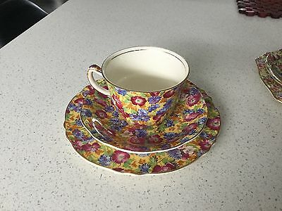 Royal Winton Grimwades Trio Chintz Royalty Pattern Made In England 1930